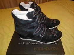42-43 р. Кожаные фирменные ботинки сникерсы Koolaburra Америка Практичные