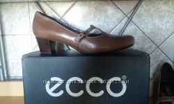 41 р. Женские Туфли Ecco новые, фирменные, кожаные. Классика под любой стил