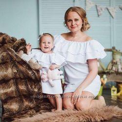 Платье с воланом комплект платьев фемели лук с двумя воланами платья