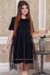 Платье с фатином комплект фемели лук мама  дочка