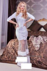 Вечернее макси платье, СМ размер. Белое, новое