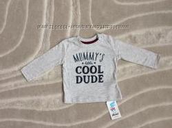 Реглан футболка лонгслив Rebel для мальчика, 3-6 мес, 68 см, хлопок