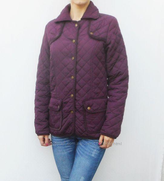 осенняя весенняя стеганая куртка цвет марсала