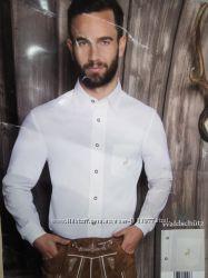 Мужская рубашка с вышитым оленем размер М 11-10 О