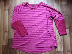 Розовый реглан в полоску размер XXL  1-206 Ю