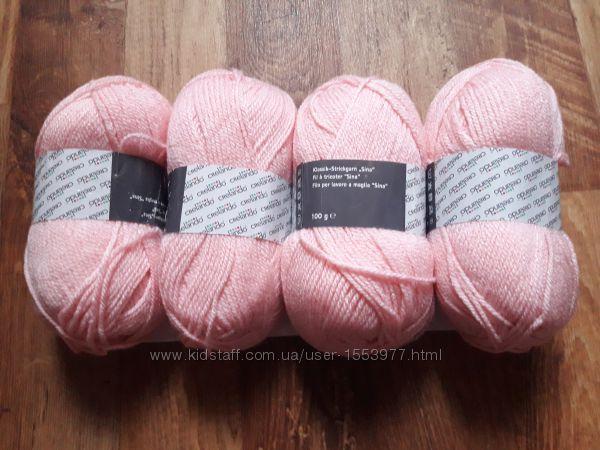 Набор розовой пряжи 4 мотка  13-61 Ю