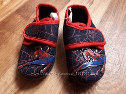 Тапочки на липучке Spiderman размер 20, 18-35 Ю