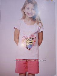 Детская пижама футболка и шорты размер 110-116 20-120 О