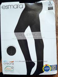 Черные колготки 60 den с узором размер L, 23-130 Ю