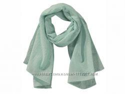 Бирюзовый шарфик с металлизированной нитью размер 50х140,   24-112 Ю