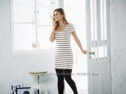 Летнее платье-туника в полоску размер XS,  28-56 Ю