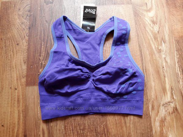 Спортивный бюстье фиолетовый размер М,  28-66 Ю