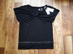 Черная футболка для йоги размер S, 28-76 Ю