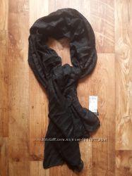 Черная шаль с металлизированной нитью размер 70х180, 28-79 Ю