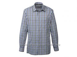 Рубашка в клетку с длинным рукавом ворот 41, 28-138 Ю