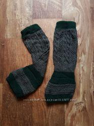 Вязаные гетры серый зеленый цвет, 32-75 Ю