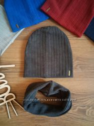 Тёплая женская шапка ангора двойная, разные цвета