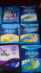 Прокладки Always и Kotex Canada