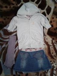 Комплект-костюм девочке юбка, кофта, колготы можно в сад 3-6 лет