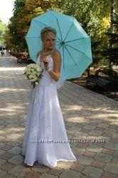 Платье свадебное высокой 48р