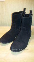 Ботинки CARLO PAZOLINI оригинал р. 38 черные бу
