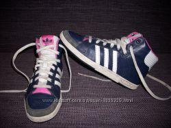 Сникерсы кроссовки Adidas Court Side Hi, кожа, 25 см