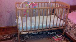 Кроватка с матрасом в отличном состоянии, Днепр, Рабочая