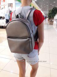Новый женский рюкзак портфель кожа металик
