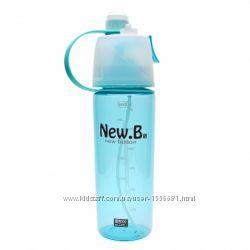 Бутылка для воды с распылителем Bianli New B 600 мл. Цвет Голубой