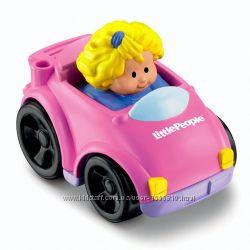 Fisher Price машинки Little People Wheelies Coupe, Recycling Truck  2 вида