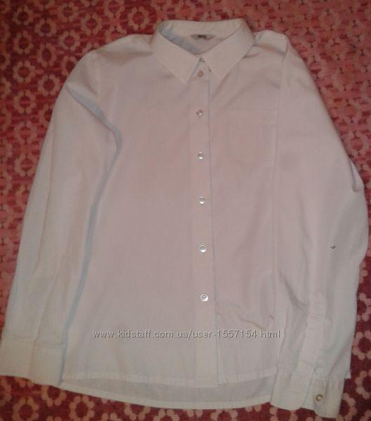 Пара белых рубашек BHS с длинным рукавом для школьницы 12 лет