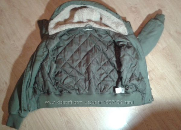 Утепленная куртка A WEAR цвета хаки с капюшоном