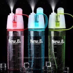 Бутылка спортивная New B. Bottle с распылителем 600 мл