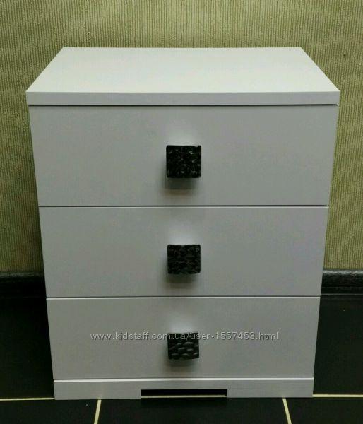 Тумбочка Белая на три ящика