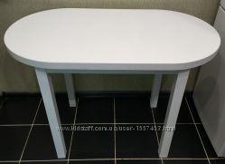 Стол Овальный Обеденный на Кухню Белый