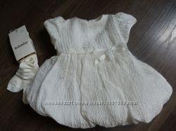 Платье нарядное на крестины для новорожденной