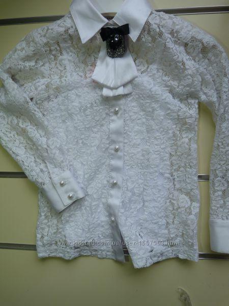 Блуза нарядная на девочку 110-158рост в школу