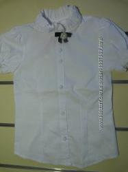 Блузы с коротким рукавом на девочку нарядные, школьные в ассортименте