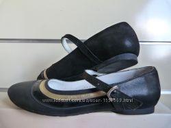 Туфельки лодочки кожа на девочку черные и цветные 32-36 в школу