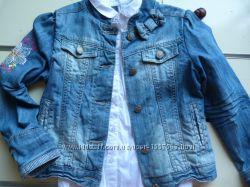 Пиджак джинсовый на девочку 7-8 лет