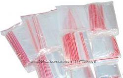 Пакеты упаковочные замок Zip Lock для одежды украшений бисера семян