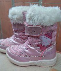 Сапожки чобітки дівчинка девочка зимние свинка пеппа 14см