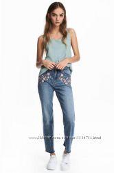 Джинсы с вышивкой H&M  размер 34
