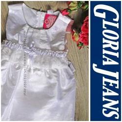 Праздничное белое платье Gloria Jeans от 1 до 5 лет