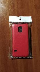 Samsung Galaxy S5 mini. Кожаный чехол-флип.