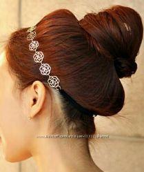 Элегантные розы, головное украшение.