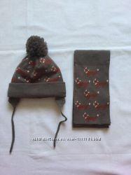 Шапочка та шарф zara для немовлят