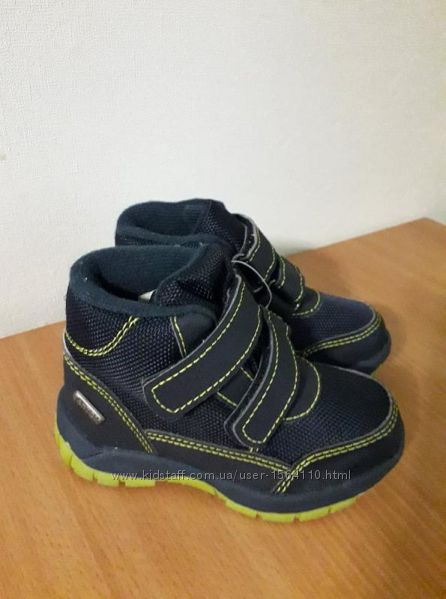 Термо ботинки демисезонные impidimpi на липучках мембрана tentex