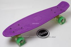 Penny Board Original 22 фиолетовая дека и светящиеся колеса