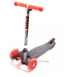 Самокат Детский Micro Mini Best Scooter Черный Регулируемая Ручка Колеса св